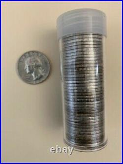 $10.00 Face Roll 90% Silver U. S. Coins Washington Quarters 40 Coins