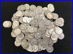 $10.00 Fv 90% Silver U. S. Coins Washington Quarters Roll Free Shipping