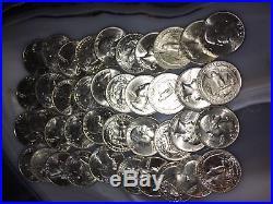 $10 BU Silver Quarter roll Blast white Unopened 40 coins random dates/ mints