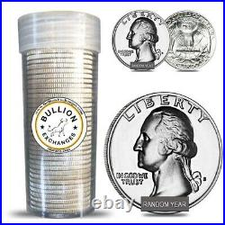 $10 Face Value Washington Quarters 90% Silver 40-Coin Roll (Proof)