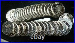 $10 Roll, (40 Coins) of Proof Silver Statehood Quarters, Mixed Issues