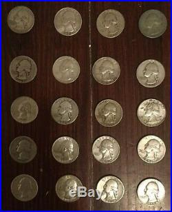 $10 Roll of Washington Silver Quarters / 40 Pre-1964 Coins Listing #4