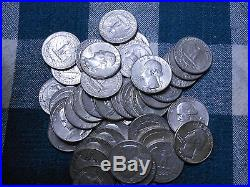 10 Rolls 90% Silver Washington Quarters-$100 Face Value-400 Coins
