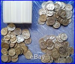120 Washington 90% Silver Quarters 3 Rolls $30 Face Value