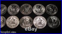 (16) 1953-D Washington Silver Quarter PARTIAL Roll BU Uncirculated SKU-1582