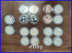 (18) PROOF 90% Silver State Quarter $4.50 FACE Roll Bullion Junk Collection