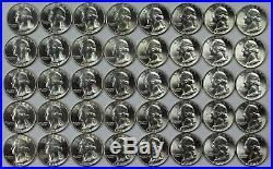 1941 P BU Washington Quarter $10 Roll 40x Coins Lot 25c 90% Silver Quarters