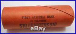 1941 Silver Washington Quarter Original Bank Wrapped Roll UNC