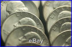 1946-S 25C Washington Quarter Roll Gems