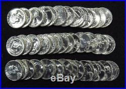 1946-S Washington Quarters 40 COIN FULL ROLL GEM BU #1