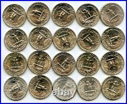 1946 Washington Silver Quarter 40-Coin Roll lot set collection BG875