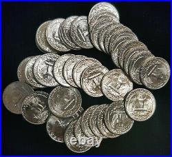 1948 Washington Quarters Gem BU Roll 40 Coins