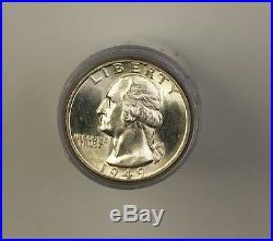 1949-D Brilliant Uncirculated $10 Silver Washington Quarter Roll 40 BU Coins GWB