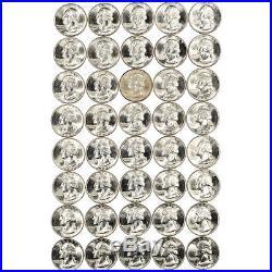 1949-D US Washington Silver Quarter 25C CH Gem BU Roll of 40