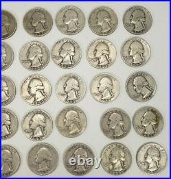 1951-1959 Washington Quarters $10 FV 90% Silver 40/Roll ESTATE Better Grades