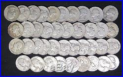 1951 S Washington Quarters G Xf Problem Free Full Roll 40 Silver Coins