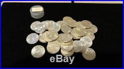 1951 Washington AU/BU Quarter Roll. 40 Coins. Silver