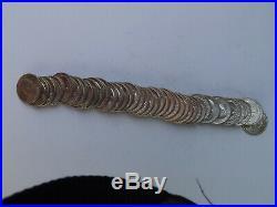 1954 D BU Silver Washington Quarter Original Bank Roll $10 Roll 90% Uncirculated
