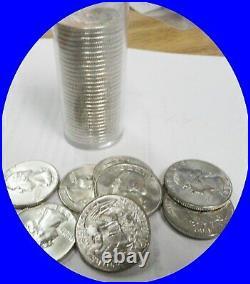 1954-D Roll of 40 Washington Silver Quarters GEM BU