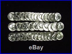 1954-D Washington Quarter CHOICE BU 40 Coin Full Roll #3