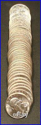 1954 D Washington Quarter Dollar Roll 90% Silver Gem Bu