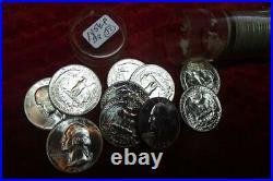 1954-P (GEM BU) LUSTROUS Silver Washington Quarter Roll(ONLY 37 coins) BRILLIANT