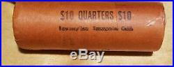 1954 P WASHINGTON QUARTER ROLL 90% SILVER MS UNC GEM BU original bank wrap OBW