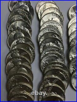 1954-d Washington Silver Quarter Bu Roll 40 Coins