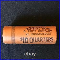 1955 D OBW Uncirculated $10 Roll Washington Quarter BU 90% Silver