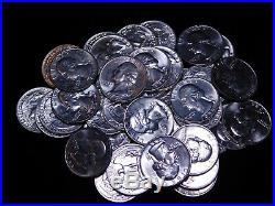 1955-D Washington Quarter BU 90% Silver Roll 09139