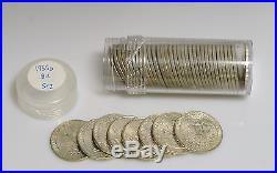 1955-D Washington Quarter Roll BU SILVER ONE ROLL FROM LOT SHOWN