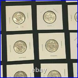 1955-D Washington Quarter Roll GEM BU++ 40 COINS