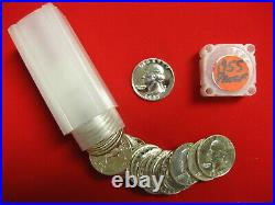 1955 Silver Proof Washington Quarter 40pc Roll