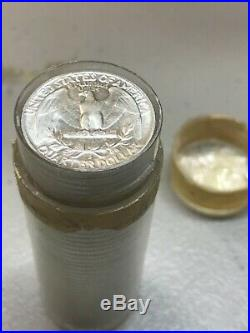 1955-d Washington quarters, original roll, brilliant uncirculated 40 coins