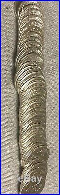 1955-d silver Washington quarter original roll, brilliant uncirculated 40 coins