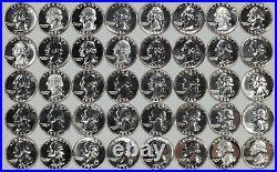 1956 Proof Washington Quarter 25c Gem Proof Full Roll 40 Coins