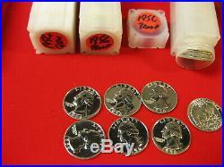1956 Silver Proof Washington Quarter 40pc Roll