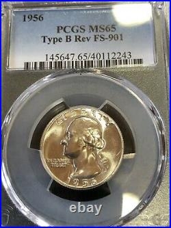 1956 Type B Quarter Fs-901 Right From Original Roll. Extremely Nice For Grade