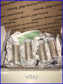 1957, 1958, 1959, 1960 Washington Quarters, 4 rolls each of 40, 90% Silver