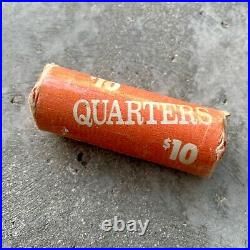 1957 Canada Silver 25 Cent Quarter Coin 40 Pieces -Fresh Roll Seldom Seen date