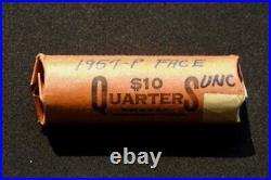 1957 P Washington Silver Quarters BU Roll of 40