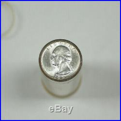 1957 United States Roll of Silver Washington Quarters 40 Coins Total