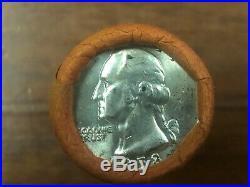 1958-D BU Shotgun Roll (40 Coins) Washington Quarters