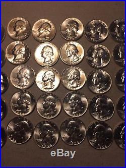 1958-D Washington Quarter Roll (40ct) Brilliant Uncirculated