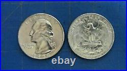 1958-d Washington Quarters Roll Of 40 Unc Beauties 90% Silver Ships Free
