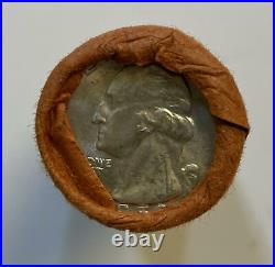 1959-D Original Bank Wrap OBW Roll 40 BU Uncirculated Silver Washington Quarters