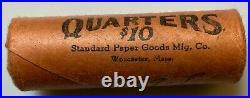 1959-P Original Bank Wrap OBW Roll 40 BU Uncirculated Silver Washington Quarters
