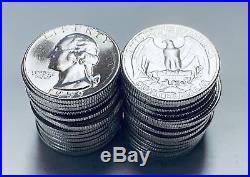 1959-P Roll of 40 Washington Silver Quarters GEM BU