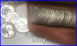 1959 Washington Quarter Roll of 40 Coins BU 90% Silver US Coins Uncirculated #