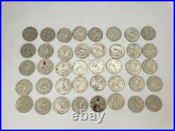 1960-1963 Washington Quarters $10 FV 90% Silver 40/Roll ESTATE Better Grades
